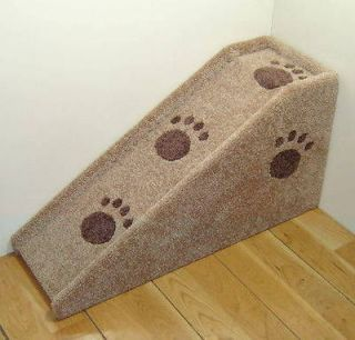 12 wide wooden Dog ramp, Pet steps. Cat, Dog stairs. Made in USA