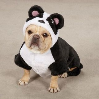 Canine Panda Pup Halloween Dog Costume Black/White With Round Ears