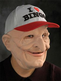 Funny Bingo Grandpa Old Man Scary Halloween Costume Mask