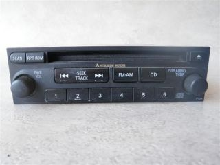 MITSUBISHI ECLIPSE AM FM Radio Stereo Receiver Single Disc CD Player