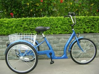 Low Step Adult Tricycle Single Speed Electric Trike