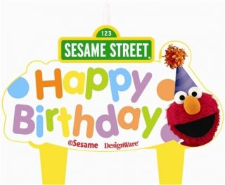 Sesame Street Party Supplies Molded Birthday Cake Candle Set