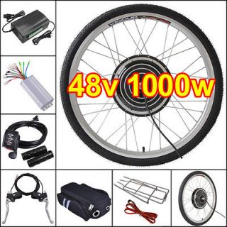 48V1000W26 Front Wheel Electric Bicycle Motor Kit E Bike Cycling Hub