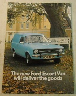 Ford 1975 Escort Van Truck Sales Brochure for UK Market