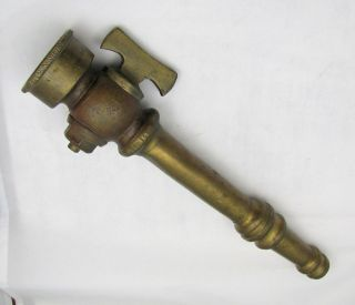 ANTIQUE FIRE HOSE NOZZLE   RARE Vintage Brass Working Adjustable