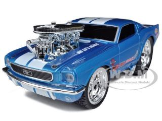 1966 FORD MUSTANG BLUE GASSER MUSCLE MACHINES 1/24 BY MAISTO 32232