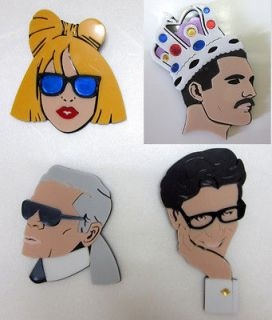 New LADY GAGA Fashion Karl Brooch Shinee Key BigBang TAEYANG KPOP