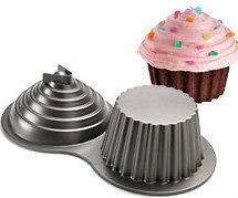 3D GIANT CUPCAKE Wilton aluminium Nordic Cake Tin Pan Mould NEW
