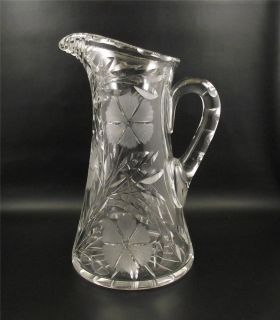 Antique Floral Cut Glass Water Pitcher~Cut Flowers ()