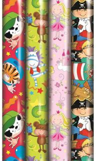 3M ROLL CHILDRENS GIFT WRAPPING PAPER Boy Girl any occasion Birthday