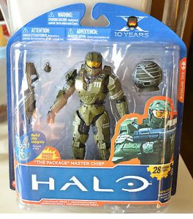 HALO 10TH ANNIVERSARY SERIES 2   MASTER CHIEF THE PACKAGE FIGURE NEW