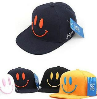 BLACK WHITE HIPHOP BALL CAP SMILE MARK HAT BIGBANG TAEYANG MENS WOMEN
