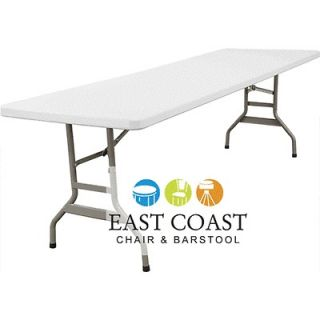 CLEARANCE New 8 Foot Commercial Lightweight Plastic Folding Table