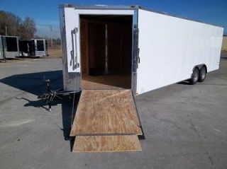 HAULER ENCLOSED MOTORCYCLE SNOWMOBILE TRAILER 60 RAMP IN V NOSE 5200