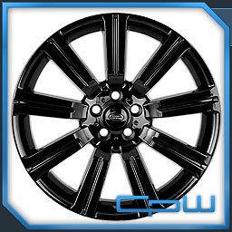 SET OF 4 GLOSS BLACK 22 WHEELS RANGE ROVER SUPERCHARGED SPORT HSE