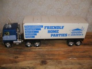 Nylint FRIENDLY HOME PARTIES Semi TRUCK Van Trailer STEEL 21