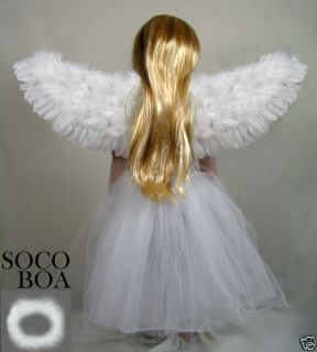 White Feather Angel Wings Halo Child Toddler Kids Fairy photo props