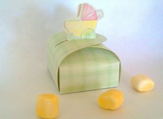 10 FAVOR Candy BOXES Baby Shower party supplies boy or girl ducky