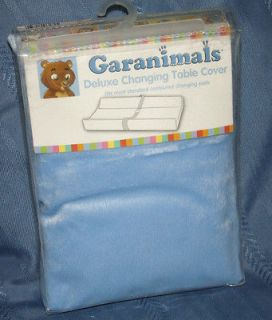 BABY BOYS GARANIMALS BLUE MINKY PLUSH DELUXE CONTOUR CHANGING PAD