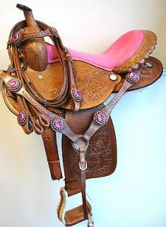 pink barrel saddle in Barrel Racing