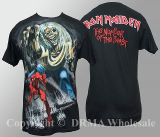 Authentic IRON MAIDEN Jumbo 666 Number Of The Beast T Shirt S M L XL