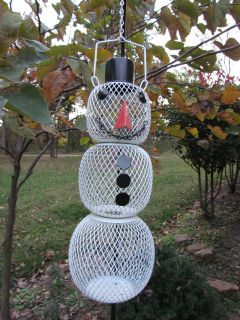 No/No Snowman Mesh Sunflower Seed Bird Feeder  SM00345