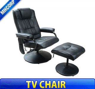 Black Leather Professional TV Office Massage Chair Soft Seat w