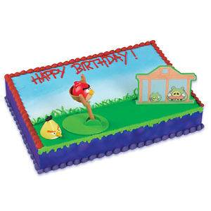 ANGRY BIRDS CAKE TOPPER PARTY SUPPLIES CAKE DECORATING KIT