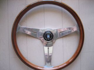 Vintage 390mm Nardi Wood Steering Wheel Porsche Alfa chevy Datsun