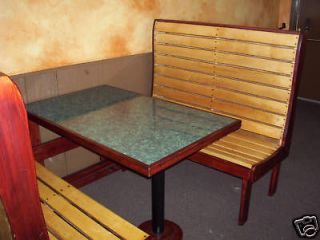 Sets  4 Booths & 2 Tables Wood Single Restaurant Seating Pizza