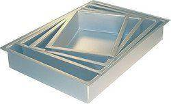 Aluminium Oblong Rectangle Cake Tin Pan  Various Sizes Available