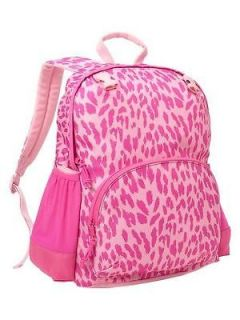 NWT GAP Kids Girls Pink Leopard Animal Print School Bag Backpack