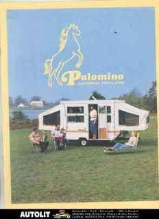 1984 1985 Palomino Pop Up Camping Travel Trailer & Pickup Truck Camper