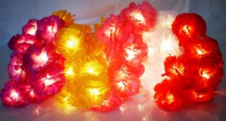 20 CARNATION FLOWER FAIRY STRING LIGHTS 3M   PARTY/DECORATION/WEDDING