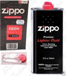 Zippo Gift Set, 12 oz Fluid, Wick & Flint ACCESSORIES