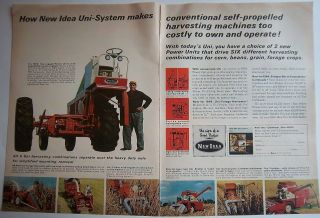 1966 Vintage New Idea Uni System Farm Tractor Equipment Ad