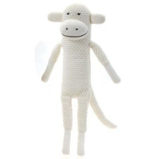 Paul Frank Julius Knitted White Sock Monkey Plush Doll Toy