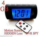 Recorder Motion Detect SPY DVR Security camera Luxury Clock w/Remote