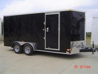New 7x16 Enclosed Trailer Cargo V Nose Motorcycle Construction