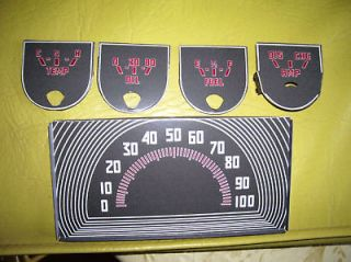 1941 1946 47 FORD TRUCK PICKUP COE JEEP GP SPEEDO GAUGE DECALS
