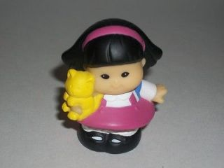 Fisher Price Little People Sonya Lee Girl with Kitty Cat