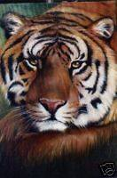 UNIQUE MODERN ABSTRACT ANIMALS TIGEROIL PAINTING,FROM ART BAYER