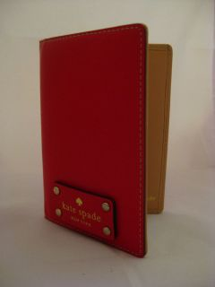 Brand New Kate Spade Wellesley Passport Holder Geranium WLRU1236