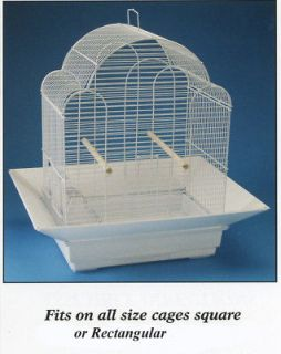 Bird Toys Cage Skirt Seed Catcher No Mess Cage Guard Fits Up To 24 X