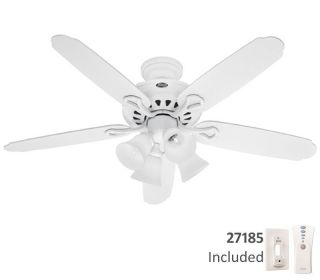 52 GRAND ISLE WHITE REMOTE CONTROL Ceiling Fan w/ LIGHT KIT HR 25746