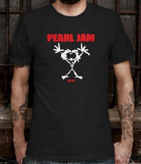 NEW PEARL JAM ALIVE BLACK T SHIRT TEE SIZE L (S TO 3XL AV)