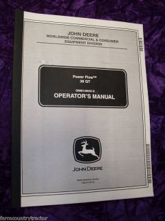 John Deere 48/54inch Power Flow Mower Operators Manual