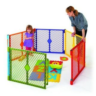 Color Superyard Baby/Pet Gate & Portable Play Yard   6 Panel  8769