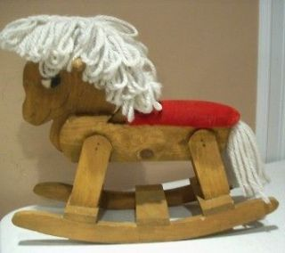 Adorable Doll Size Wooden Rocking Horse   Well Made