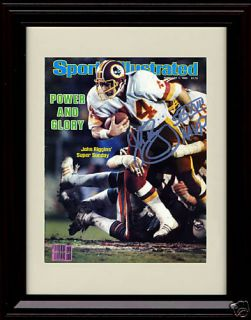 Framed John Riggins Sports Illustrated Autograph Print